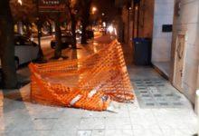 Andria – Nota pizzeria perde clienti a causa di una recinzione pavimentale che dura da 7 mesi