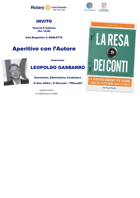 """Barletta – """"La Resa dei Conti"""" il libro del giornalista Gasparro"""
