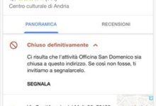 Andria – Chiude l'officina San Domenico