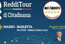 """Barletta – """"Redditour"""" per parlare del Reddito di Cittadinanza"""