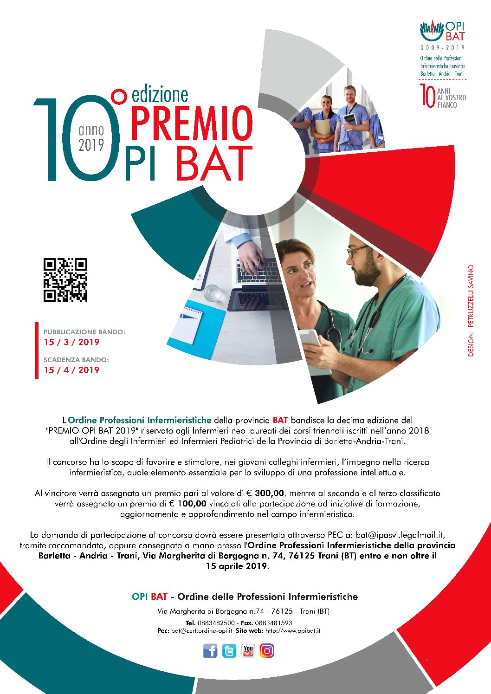 Opi Bat indice il premio per la miglior tesi di ricerca 2019