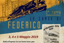 """Targa Puglia, """"Le corse di Federico"""" 3, 4 e 5 maggio"""
