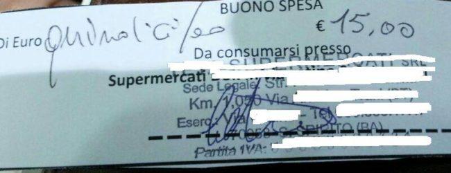 9bd7a934eecb Bari – Buoni spesa da 15 euro in cambio di voti: la foto diviene virale