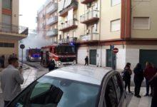 Andria – Incendio in un garage: in fiamme un'autovettura. Le FOTO