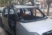 Barletta – Auto distrutta dalle fiamme in centro città nel cuore della notte