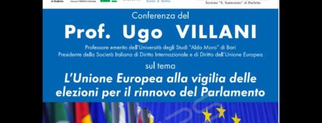 Barletta – L'Unione Europea alla vigilia del voto: intervista al prof. Ugo Villani
