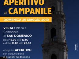 """ANDRIA – """"Aperitivo al Campanile"""": domenica 26 maggio, chiesa di San Domenico"""