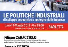"""Barletta – Incontro su """"Le politiche industriali di sviluppo economico a sostegno delle imprese"""""""