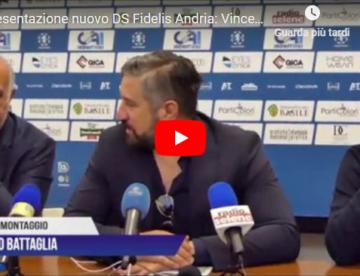Fidelis Andria: presentato il nuovo DS Vincenzo De Santis. VIDEO e FOTO