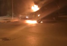 Corato – Giornalista vittima di atto intimidatorio: auto incendiata sotto casa. FOTO e VIDEO
