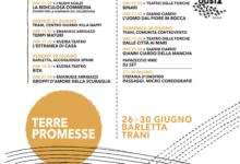 """Barletta – """"Terre Promesse"""" dal 26 al 30 giugno la rassegna del Teatro dei Borgia"""