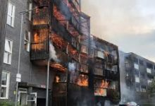 Londra – Incendio a Barking Riverside