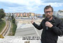 """Barletta – Pinuccio di """"Striscia la notizia"""" evidenzia i disagi dovuti alla rimozione dei passaggi a livello"""