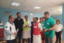 Una esercitazione di maxiemergenza negli ospedali della Asl BT. FOTO