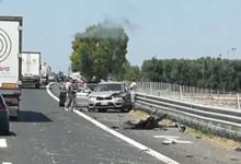 Due incidenti stradali sull'A14 nei pressi del casello Andria-Barletta: uomo in fin di vita. FOTO