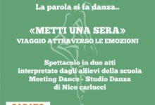 """Trani – Logos Festival: stasera al Parco S. Geffa spettacolo """"La parola si fa danza"""""""