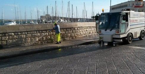 Trani – Lavaggi igienizzanti, programmate altre 5 uscite in città