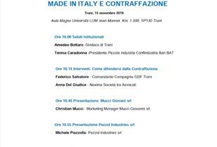 """Confindustria, """"PMI DAY 2019"""": lotta alla contraffazione a Bari e BAT"""