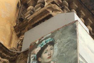 Barletta – Palazzo Della Marra, si stacca un pezzo del balcone a causa delle forti piogge