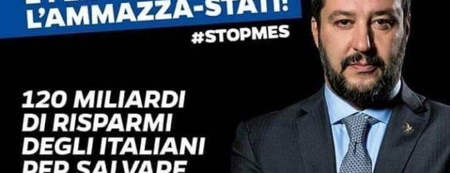 """Trani – Lega, oggi e domani raccolta firme per """"Stop Mes"""""""