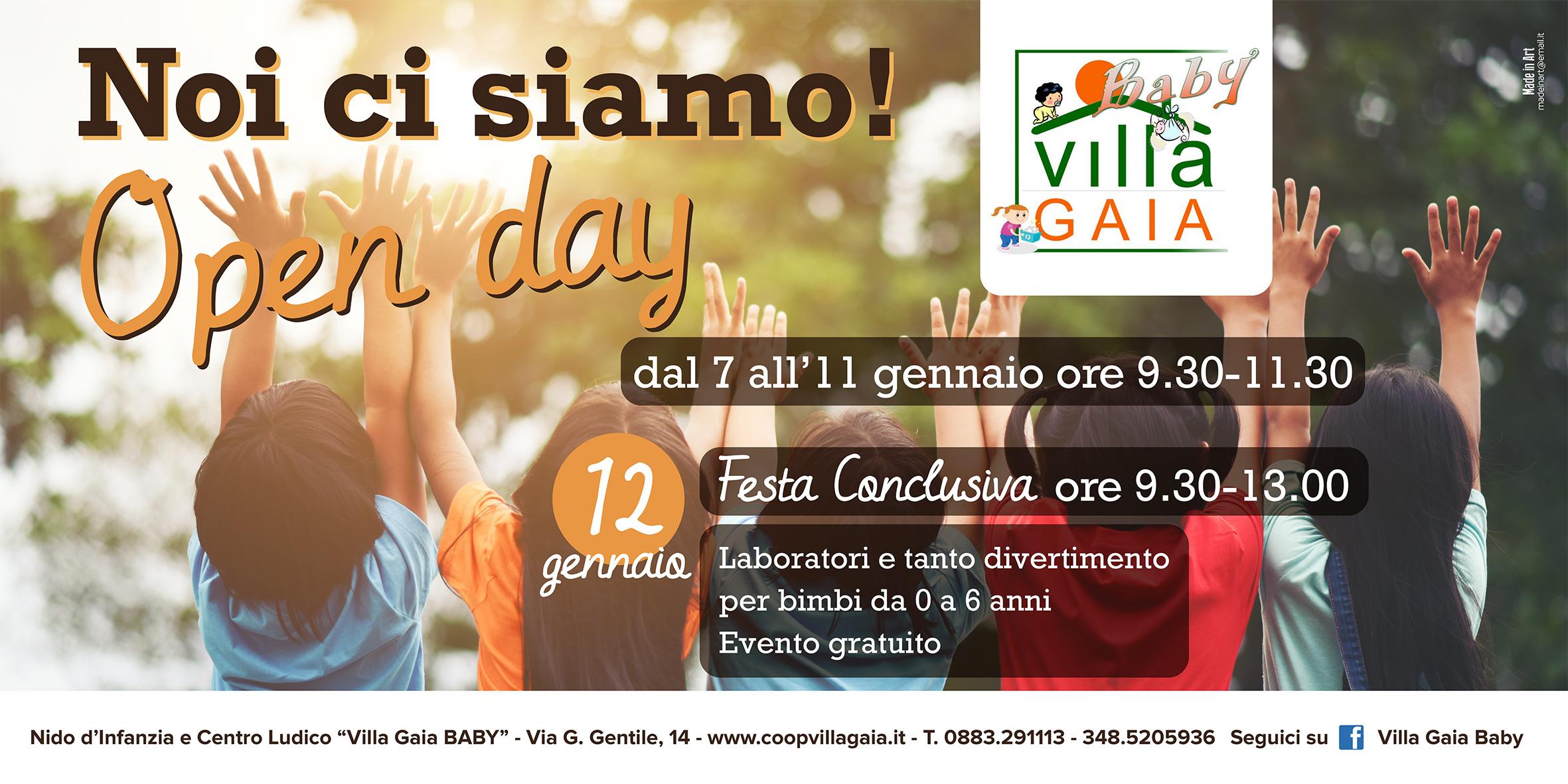 Nuovo Arredo Ad Andria.Andria Open Day Villa Gaia Baby Dal 7 Al 12 Gennaio Con