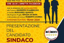 Trani – M5S, domenica presentazione del candidato sindaco
