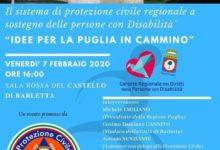 """Barletta – Convegno, """"Idee per la Puglia in cammino"""", la Protezione civile per i disabili"""