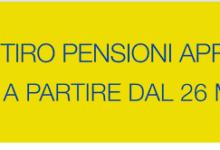 POSTE ITALIANE – Pensioni di Aprile in pagamento dal 26 marzo