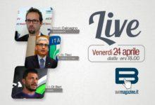 BATmagazine Live. Mercoledì 24 aprile diretta con il Presidente LND Puglia, Vito Tisci, il vicepresidente AIC, Umberto Calcagno e il calciatore Vito Di Bari