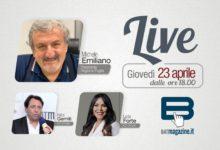 BATmagazine Live. Mercoledì 23 aprile diretta con il Presidente della Regione Puglia e gli imprenditori Gemiti e Forte