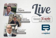 Batmagazine live, giovedì 30 aprile in diretta con Saverio Zagaria, Pasquale Vendola e Ing. Michele Dassisti