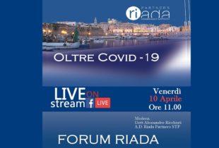 """""""Oltre Covid-19"""" incontri streaming della Riada Partners"""