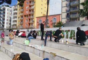 Barletta – Ripristinato il murales antifascista nei giardini De Nittis