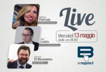 """""""Batmagazine live"""": mercoledì 13 maggio ospiti Marilena Farinola, Aldo Losito, Giovanni Di Benedetto."""