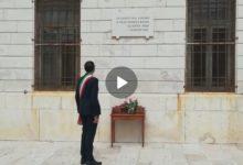 Trani – Il sindaco rende omaggio ai caduti sul lavoro. VIDEO