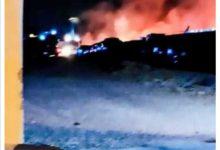Bari – Fiamme in deposito giudiziario, 100 veicoli distrutti