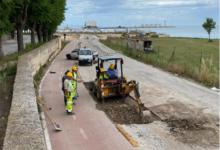 Barletta – Lungomare turistico attinente la Lega navale, proseguono i lavori sul manto stradale